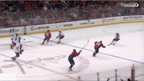 Watch and share Alex Ovechkin Scores Second Goal Of Night After Amazing Drop Pass From Jay Beagle (GIF) ‹ Russian Machine Never Breaks GIFs on Gfycat