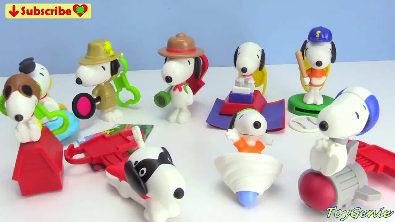 68af0dda07 2018 Peanuts Snoopy McDonald s Happy Meal Toys GIF