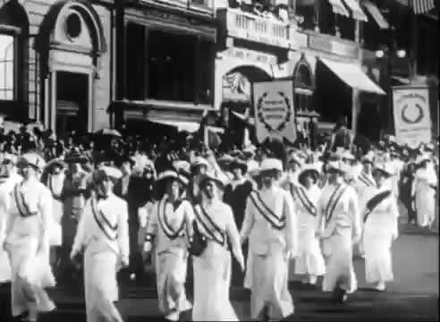 Watch Clip of the Week - The Suffragettes March, New York City, 1915 GIF on Gfycat. Discover more America, feminism, history, suffragettes GIFs on Gfycat