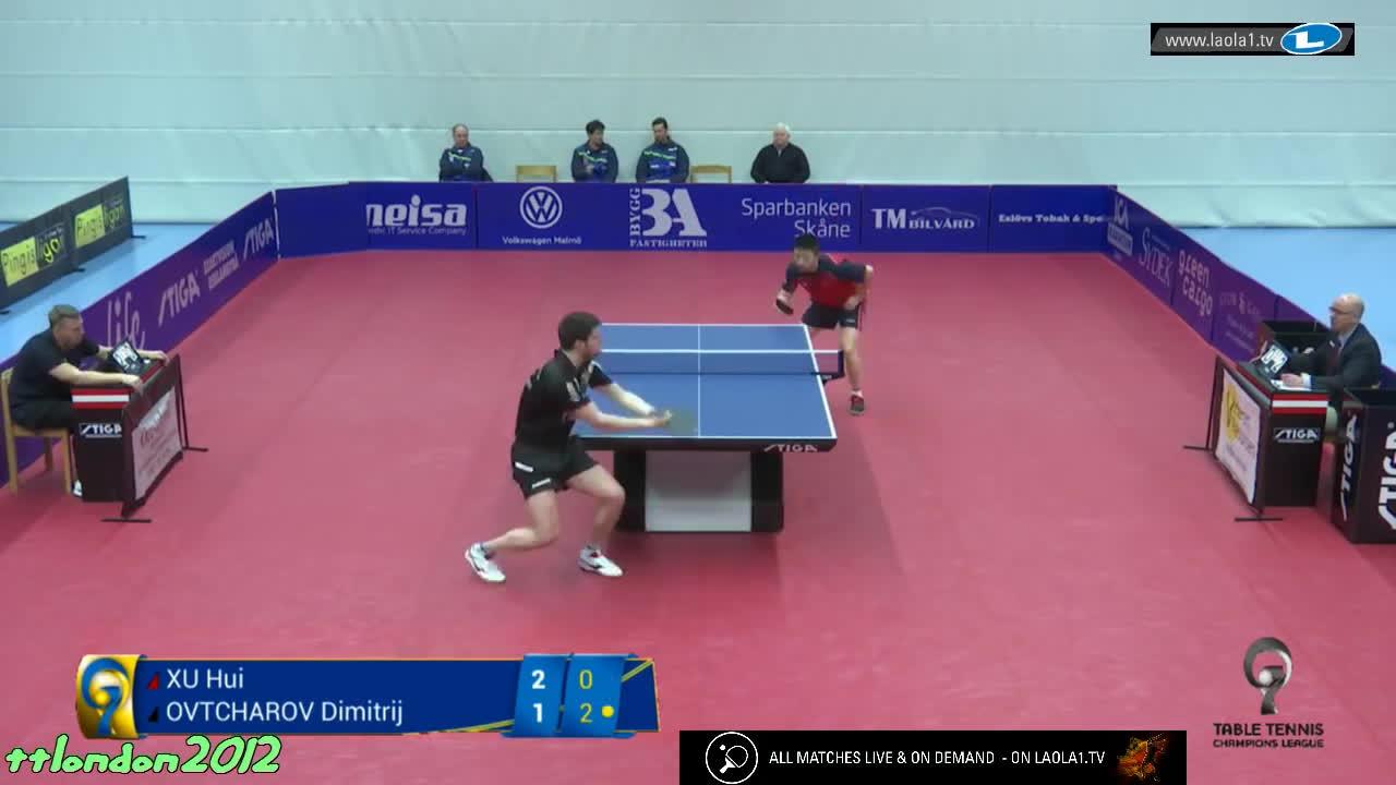 table, tabletennis, tennistavolo, Dimitrij Ovtcharov vs Xu Hui (Champions League 2017) GIFs