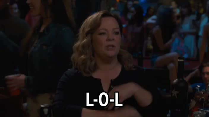 L-O-L, LOL, Laughing out loud, Life of the Party, Melissa McCarthy, Life of the Party - Melissa Mccarthy - LOL GIFs