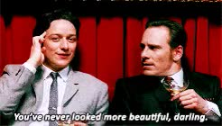 Watch Charles & Erik+ flirting () GIF on Gfycat. Discover more bless :'), charles xavier, erik lehnsherr, james mcavoy, marveledit, mcavoys, michael fassbender, michaelfassbender, mine, rbertdowneyjr, tbh that second to last one isn't flirty as much as it is charles and erik being dads, they have so many flirty/intimate moments i'd have to make three gifsets to fit them all, which counts in my book, xmenedit GIFs on Gfycat