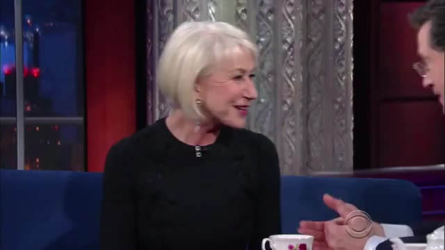 Watch and share Stephen Colbert GIFs and Helen Mirren GIFs on Gfycat