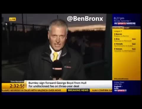 Watch and share Fan Attacks  Sky Sports News Reporter With A Dildo Transfer Deadline Day GIFs on Gfycat