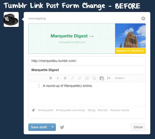 Watch Tumblr Link Post and Dashboard Changes:The Dashboard is spor GIF on Gfycat. Discover more dashboard change, design change, link post, link posts, marquette university, tumblr change GIFs on Gfycat