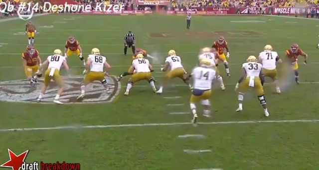 Watch and share Deshone Kizer GIFs by clevezirm on Gfycat