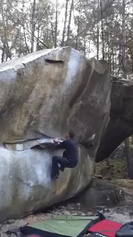 Impressive bouldering hop GIFs