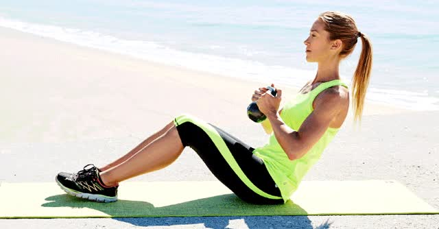 Watch and share 7 Moves That Incorporate Kettlebells Into Your Routine - The Fabletics Blog GIFs on Gfycat