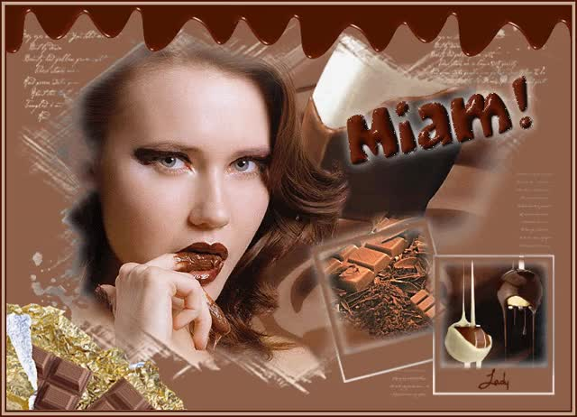 Watch and share Miam Miam ... Chocolat GIFs on Gfycat