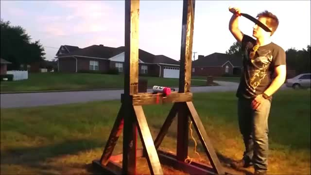 Watch and share ✅ Guillotine Vs A Spray Paint Can (Unexpected Results) GIFs by Thund3rbolt on Gfycat