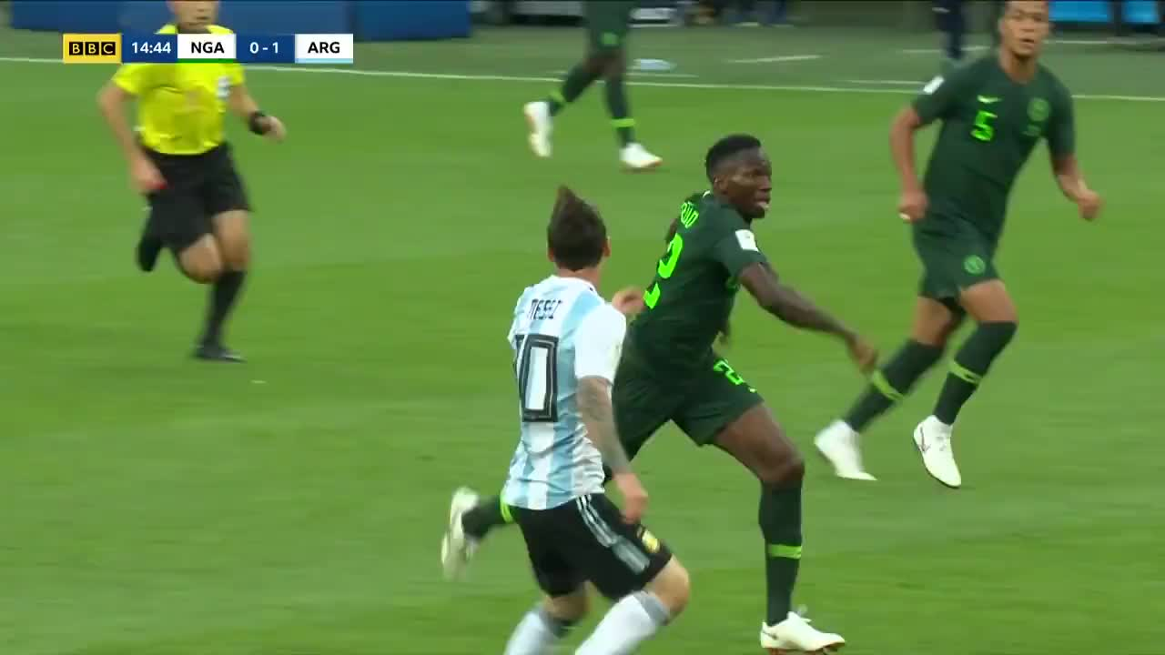 argentina, fifa, soccer, Messi touches for goal vs Nigeria GIFs