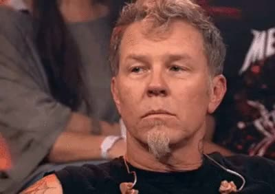Watch and share James Hetfield GIFs and Interview GIFs on Gfycat