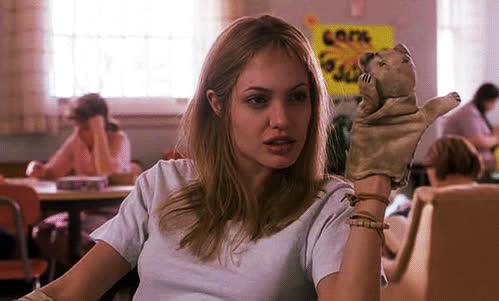 angelina jolie, cat, hello, hey, hi, wave, Angelina Jolie - Hello Cat GIFs