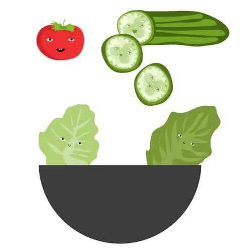 Watch and share Salad GIFs and Food GIFs on Gfycat
