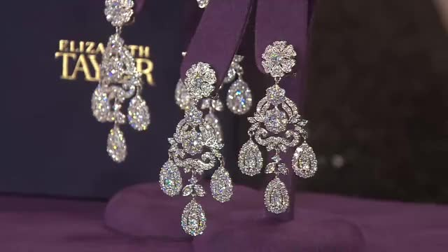 Watch and share The Elizabeth Taylor 12.40 Cttw Simulated Diamond Earring With Lisa Robertson GIFs on Gfycat