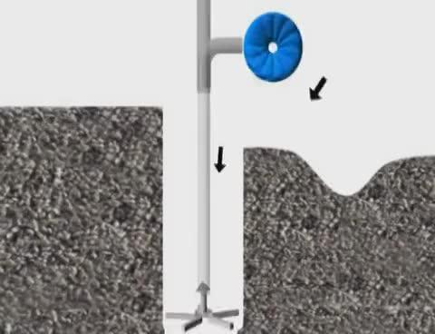 Reverse circulation drilling method