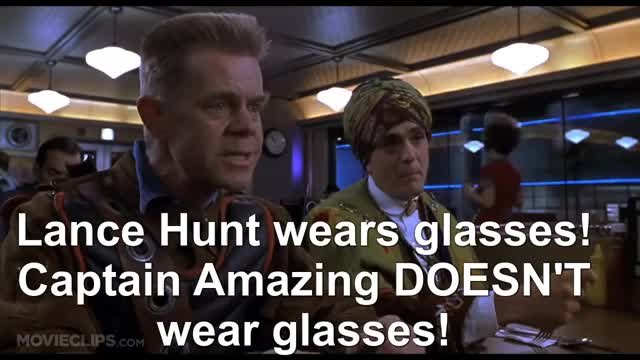 Watch Lance Hunt wears glasses! Captain Amazing DOESN'T wear glasses! GIF by @sillstaw on Gfycat. Discover more ben stiller, claire forlani, greg kinnear, hank azaria, kinka usher, mystery men, mystery men clip, mystery men part 1, mystery men soundtrack, william h macy, william h. macy GIFs on Gfycat
