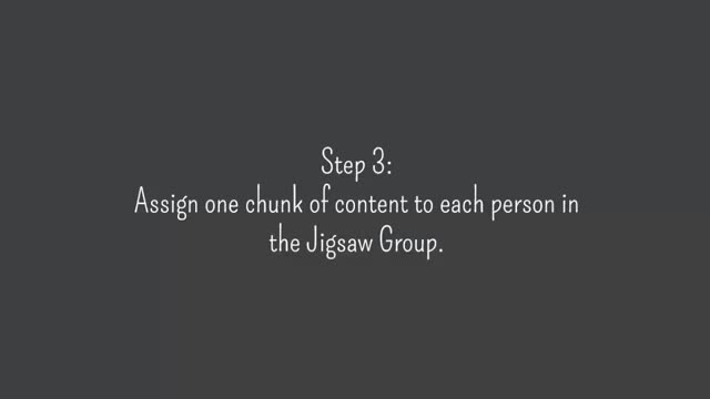 The Jigsaw Method