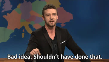 Justin Timberlake, bad, bad GIFs