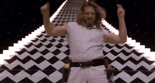 awesome, big, celebrate, crazy, dance, dancing, excited, great, lebowski, moves, party, woohoo, Party like Big Lebowski GIFs