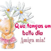 Watch and share Que Tenga Un Bello Dia Amiga Mia animated stickers on Gfycat