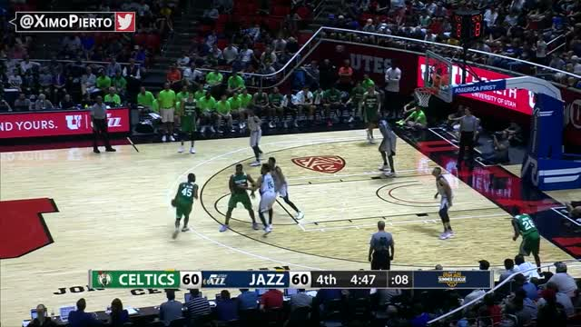 Watch and share Donovan Mitchell Puts Jayson Tatum On Skates | Celtics Vs Jazz | July 6, 2017 | NBA Summer League GIFs by Razzball on Gfycat