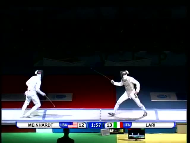 Watch Fencing, JWCH 2010 Mens Foil Semi-Final2 GIF by Stuff (@ajslim) on Gfycat. Discover more Fencing, Mens Foil, World Championships, fleuret, point left, sabre, separating attacks GIFs on Gfycat