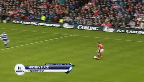 Watch and share Kingsley Black. Nott. Forest - QPR. 02.10.1994 GIFs by fatalali on Gfycat