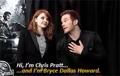 Watch Bryce Dallas Howard & Chris Pratt - Raven Tao Interview On 2 GIF on Gfycat. Discover more *, bdhowardedit, bryce dallas howard, chris pratt, chrisprattedit, claire dearing, gifs, gotgedit, interviews, jurassic world, jurassicdaily, jwedit, marvelcastedit, marveledit, nesrin, owen grady, prattdaily, prattedit GIFs on Gfycat