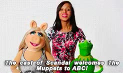 Watch Kerry Washington welcome The Muppets to ABC GIF on Gfycat. Discover more gifs, kermit, kerry washington, kerrywashingtonedit, kwedit, miss piggy, my sunshine, she took a selfie with kermit and that's all i care about, the muppets GIFs on Gfycat