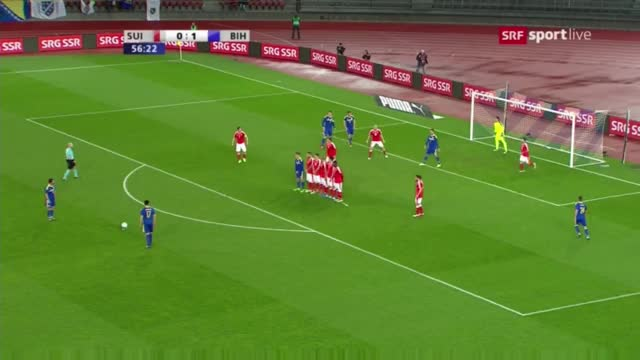 Watch AMAZING GOAL MIRALEM PJANIC Switzerland vs Bosnia Herzegovina 0-2 - Friendly Match - 29/03/16 GIF on Gfycat. Discover more bosnien, freekick, pjanic GIFs on Gfycat