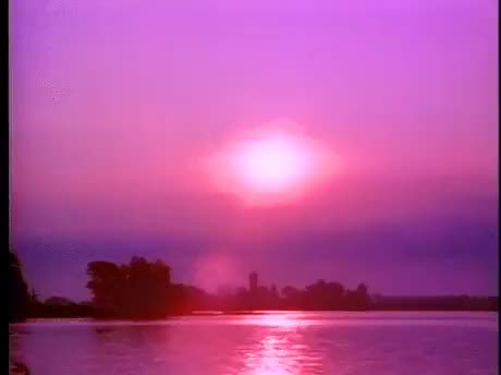 Watch Purple SunsetSource: kruma  GIF on Gfycat. Discover more 1980s, 80s, BETAMAX, Summer, VHS, eighties, lake, ocean, pink, purple, retro, sunset, tracking, vintage GIFs on Gfycat