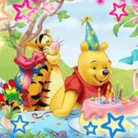 Watch and share Disney Birthday Photo: Birthday Pooh & Tigger Birthday-Pooh-Tigger.gif GIFs on Gfycat