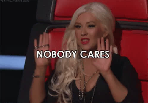 christina aguilera, dgaf, nobody cares, the voice, whatever, Christina Aguilera - Nobody Cares GIFs
