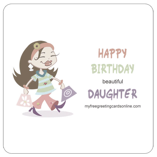 Daughter Birthday Wishes Verses Write Cards GIF