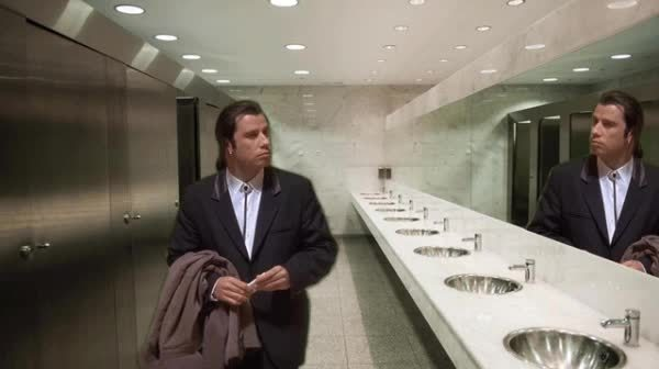 confusedtravolta, MRW all the stalls are either dirty or occupied GIFs