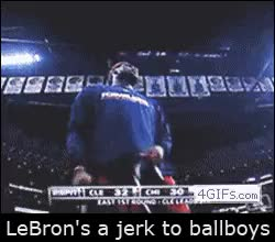 Watch and share LeBron Going Out Of His Way To Be A Prick To The Towelboy (i..com) GIFs on Gfycat