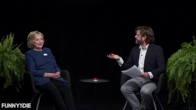 Watch Hillary Clinton - No - Between Two Ferns with Hillary Clinton GIF by Funny Or Die (@funnyordie) on Gfycat. Discover more between two ferns, between2ferns, betweentwoferns, fod, funny or die, hillary clinton, hillaryclinton, no, zach galifianakis GIFs on Gfycat