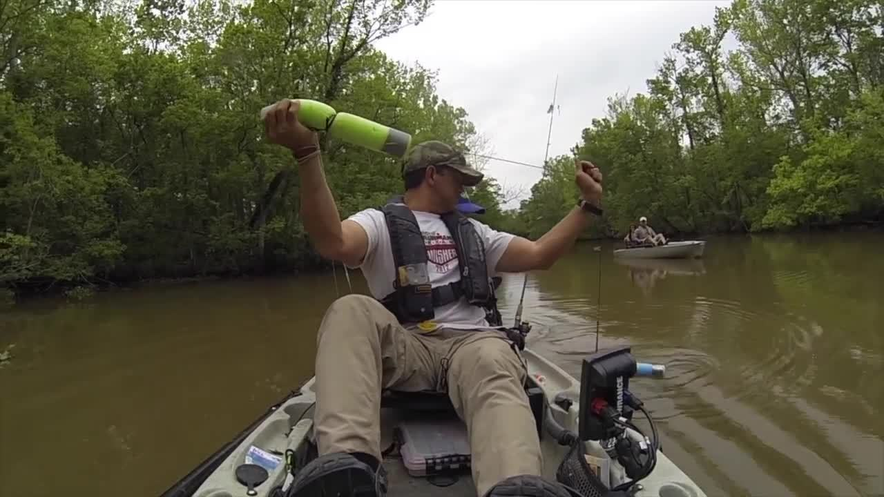 kayak fishing, louisiana kayak fishing, yak angler, That Is NOT a Catfish on the End of the Line GIFs