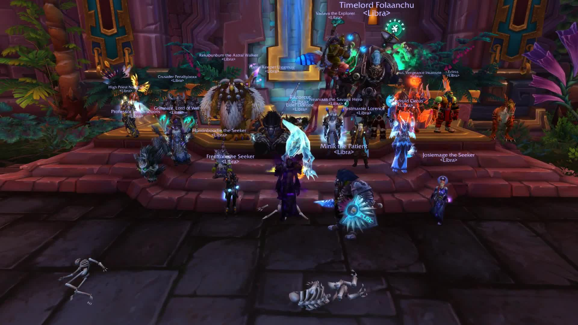 DJXyanyde, World of Warcraft, Libra downs the first boss on Mythic! GIFs