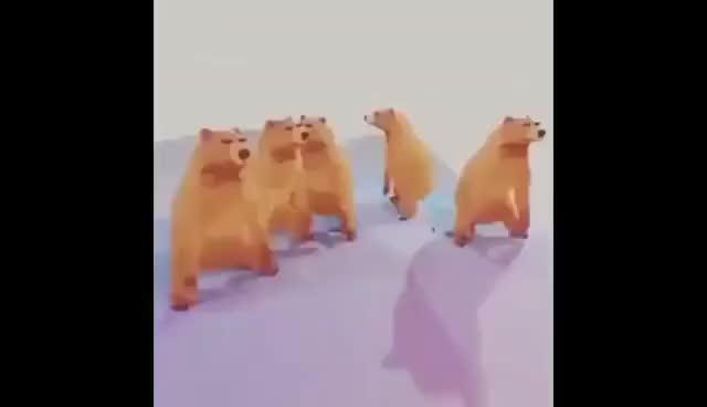 Гифка медведи пляшут, летию