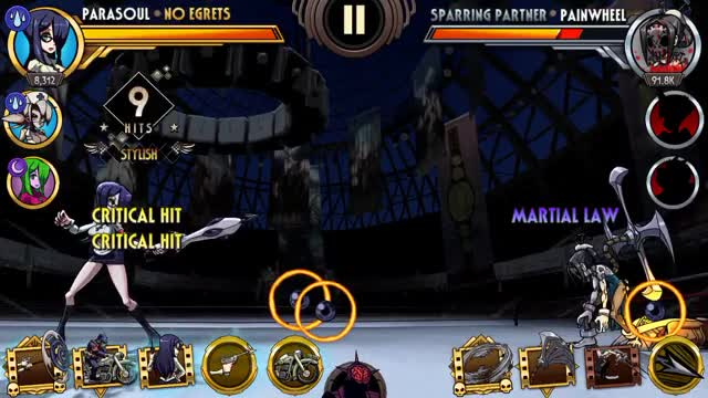 Watch and share Skullgirls Mobile - Parasoul Training 2 GIFs by moisterrific on Gfycat