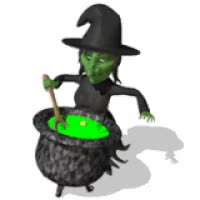 Watch and share Witch Stirring Cauldron GIFs on Gfycat