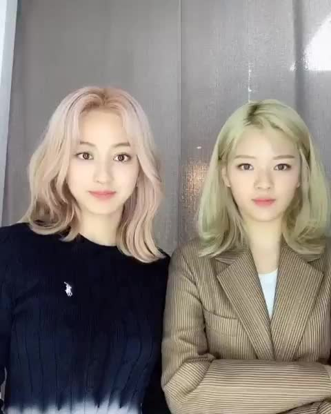 Watch and share AHHHHH IVE BEEN WAITING FOR THIS 🥺 THE MOST PRECIOUS BABIES, Their Hair Colours Are So Gorgeous Oh My God.. And Momo At The End LOL I Love  GIFs by nataliesignal on Gfycat