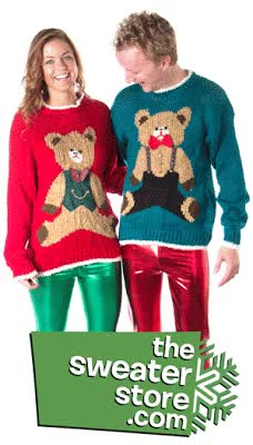 Watch and share Models In Christmas Sweaters GIFs on Gfycat