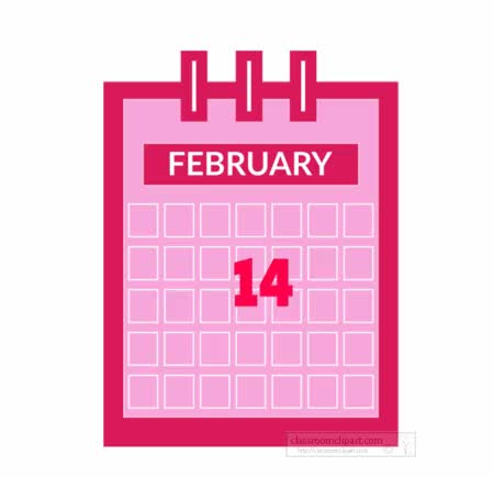 Watch and share Download February-valentines-day-calendar-animated-clipart-cr GIFs on Gfycat