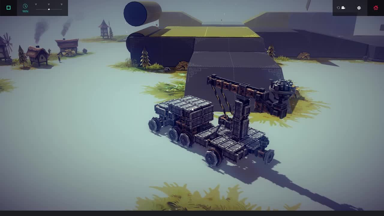 besiege, I'm not very creative but I thought this catapult trailer was pretty neat. (reddit) GIFs
