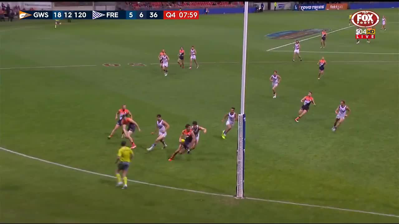 Football, Footy, Highlights, afl, goals, handballs, kicks, marks, Lobb does the impossible - AFL GIFs