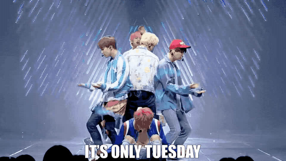 a, bts, day, drama, food, happy, have, hungry, it's, it's only tuesday, nice, of, only, queen, second, taco tuesday, the, tuesday, week, yummy, It's only Tuesday GIFs