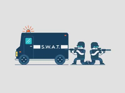 Watch and share Swat T GIFs on Gfycat